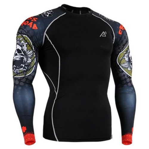 Life on Track Dry Quick gym t shirt compression tights men's sport t shirts running long sleeve t-shirts fitness men t-shirts