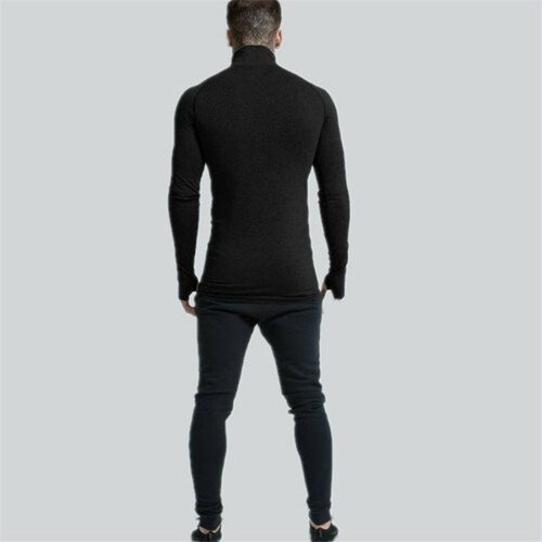 2018 new Men's cotton Fitness Long Sleeve Tight Quick Dry T-shirt Gym Sport Training Shirt Long Sleeves Tops