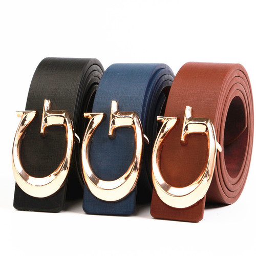Ladies fashion Smooth G letter Brand Designer Belts for Women Fashion Buckle Belts Women Men Luxury Leather Belts for Unisex
