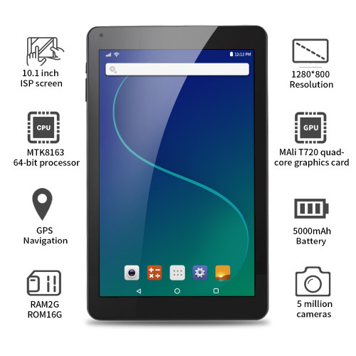 Brand tablet 10.1 inch tablets 16GB ROM 2GB Android 6.0 Quad Core Ultra thin Tablet PC High Resolution Bluetooth WIFI GPS