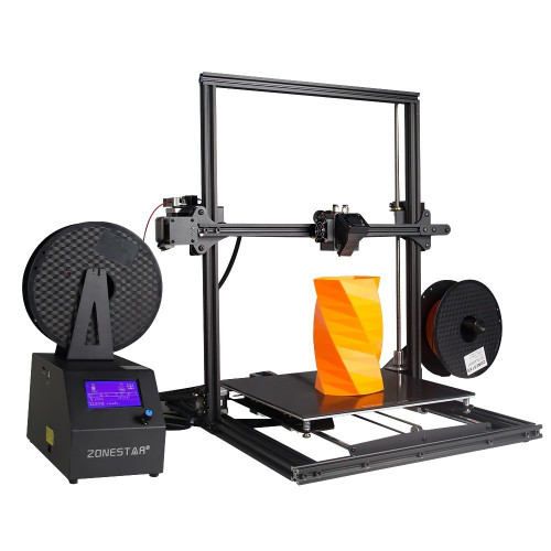 ZONESTAR Newest Large Size Optional Single Dual Extruder Auto Mixing Super base Open Source Fully Assembled Color 3d Printer