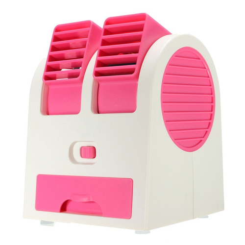 Portable Mini ABS Fan Bladeless Air Conditioner USB Fan Cooling Desktop PC