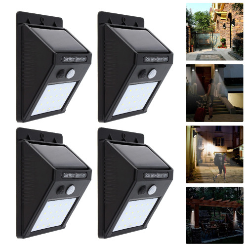 Rechargeable Solar Power LED Wall Light PIR Motion Sensor Outdoor Waterproof Garden Yard Street Path Home Security Lamp