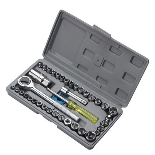40 PCS Multifunction Cars Motorcycles Combination Socket Wrench Set Tool