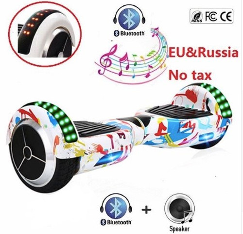 "Hoverboard 6.5"" Electric Scooter Bluetooth Overboard Self Smart Balance Two Wheel Self  Balancing Scooter Skateboard LED Light"