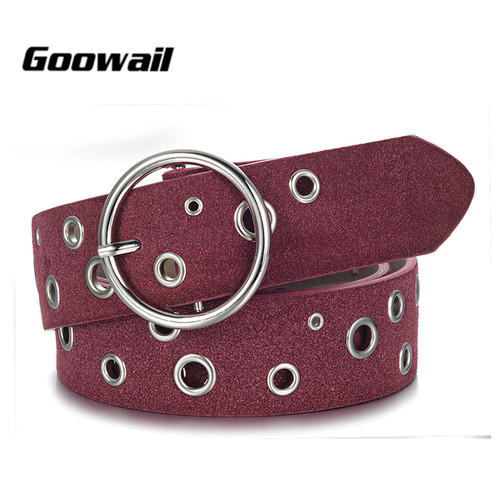Goowail 2017 new fashion gommet belts for women pu Leather female strap for ladies jeans accessories