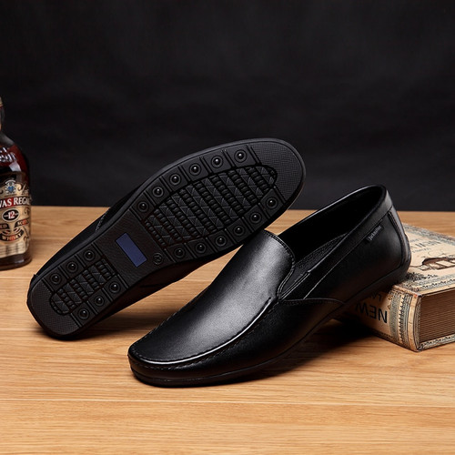 Jackmiller Top Brand 2019 New Arrival Men Casual Shoes Flexible Soft Comfortable Men Shoes Slip-On Loafers Flats Shoes Men Black