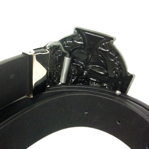Western Cowboy Skull Keltic Cross Belt Buckle Metal Brand Luxury Mens Designer Pu Leather Belts For Men Jeans Cinturones Hombre