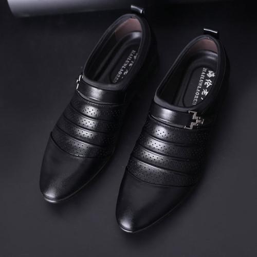 New Breathable summer leather shoes men oxford slip-On white elegant dress shoes classic black men formal shoes 2018 NET629