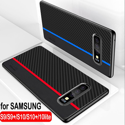 For Samsung S10 Plus Case Original CENMASO Fiber Leather Protect Cover for Samsung Galaxy S9 Plus Case S9 S10 Lite S10e Case