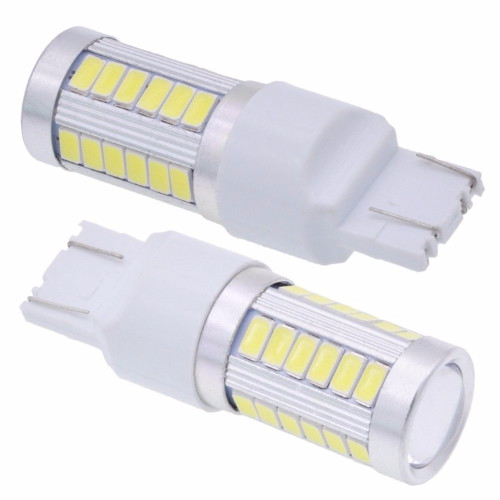 2pcs T20 W21/5W 7443 7440 W21W 5630 33SMD LED Car Brake Light White Red Yellow DC 12V 800LM Turn Reverse Lamp