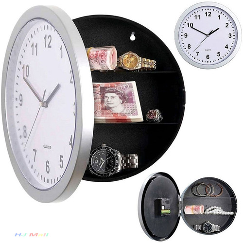 Creative Hidden Secret Storage Wall Clock Home Decroation Office Security Safe Money Stash Jewellery Stuff Container Clock