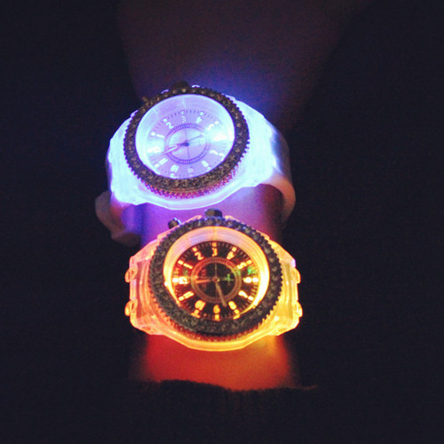 Luminous LED Sport Watches Women Quartz Watch ladies Women Silicone Wristwatches glowing