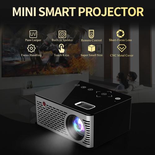Salange T200 Pocket Mini Projector,Touch keys HDMI USB AV Video Game Projector LED Beamer Support Power Bank Charging