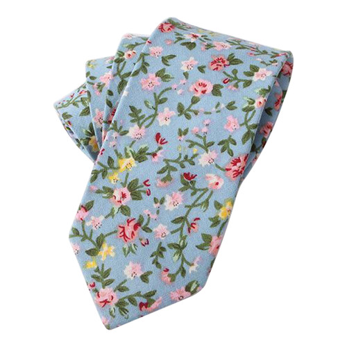 Men Floral Dots Tie Cotton Narrow And Skinny Casual Charming Ties For Men Wedding Party Flower Skinny Ties For Men