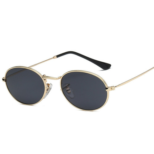 ZXRCYYL 2018 Vintage Oval Small Metal Frame Steampunk Sunglasses Men Women New Fashion Sun Glasses Female Eyewear Oculos De Sol