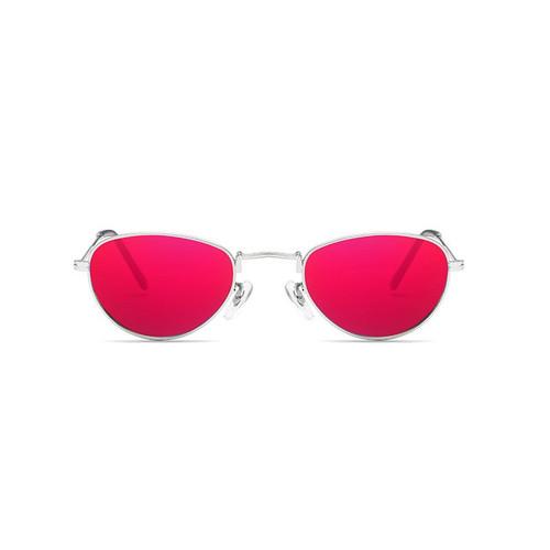 HUHAITANG luxury brand vintage sunglasses women small punk men oval steampunk sun glasses for 2018 designer eyewear