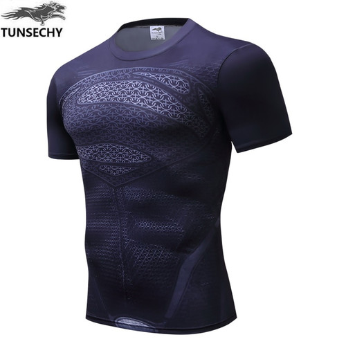 New 2017 TUNSECHY brand Captain America civil war 3 new characters model man fitness compressed T-shirt