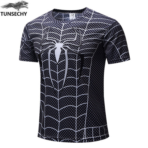 NEW 2018 Marvel Super Heroes Avenger Captain America Batman Tshirt Men Compression Base Layer Thermal Under Causal Shirt