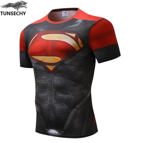 New Fitness Compression Shirt Men Anime Superhero Punisher Skull Captain Americ 3D T Shirt Bodybuilding Crossfit t-shirt