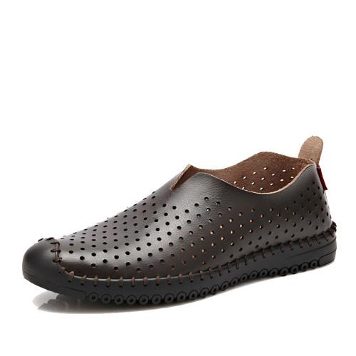 NPEZKGC Men's Shoes New Fashion Genuine Leather Men's Loafers Driving Shoes Mocassins Spring Autumn Men Casual Shoes man