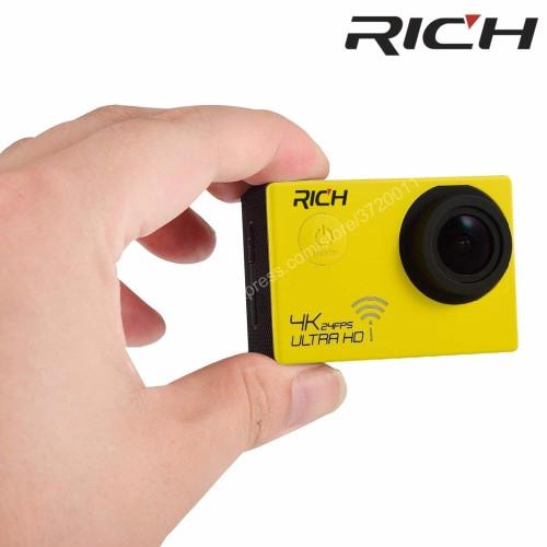 Original Sport Camera gopro hero4 style NT96660 4K 3840*2160P 24FPS Wifi 16MP remote control 170D Lens Waterproof Sports Camera