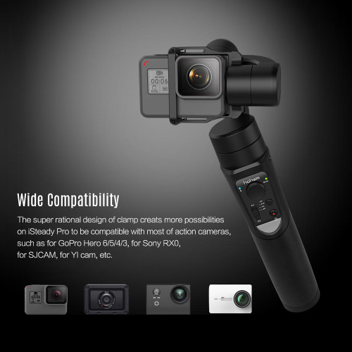 Hohem iSteady Pro Handheld 3-Axis Gimbal Stabilizer for action camera Gopro 6 5 4 RX0 xiaomi yi 4k PK zhiyun smooth 4 feiyu g6