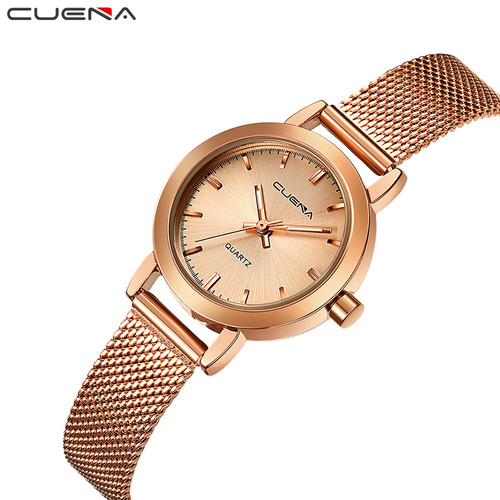 Luxury Women Quartz Watch Fashion Ladies Watches Relojes Reloj Mujer Montre Femme Relogio Feminino CUENA Brand 6627G 6 Colors
