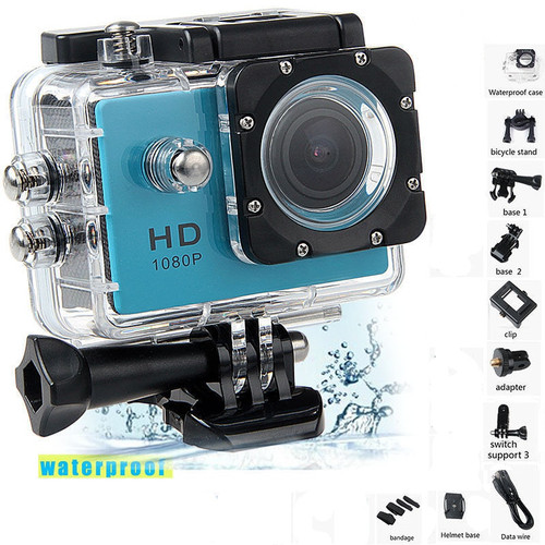 "Water proof Mini Camera Full HD 1080P Action Sport Camcorder Outdoor gopro style go pro 2"" Screen Cam Recorder DV resistant"