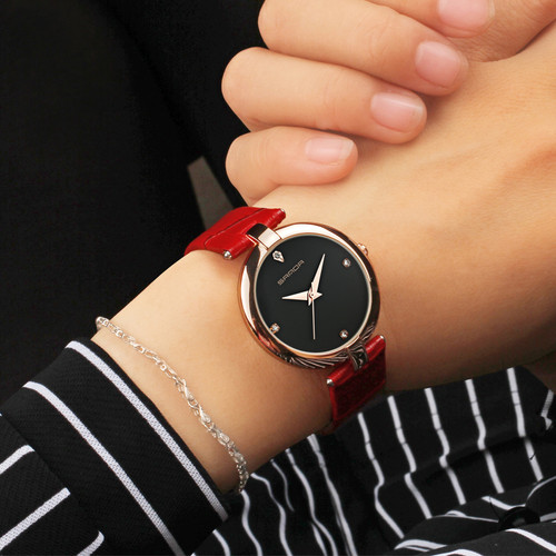 2017 SANDA Fashion Golden Ladies Watch Women Leather Wrist Watches Diamond Gold Clock Saat Relogio Feminino bayan kol saati