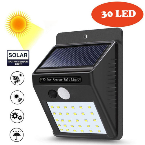 30 LED Outdoor Solar Wall Lamps Garden Light Decoration PIR Motion Sensor Night Security Wall Light Waterproof Wall Lamp (solar wall lamp 30 led)