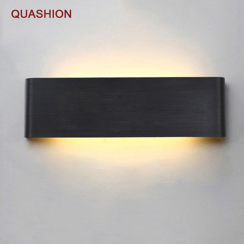 Modern minimalist LED aluminum lamp bedside lamp wall lamp room bathroom mirror light direct creative aisle