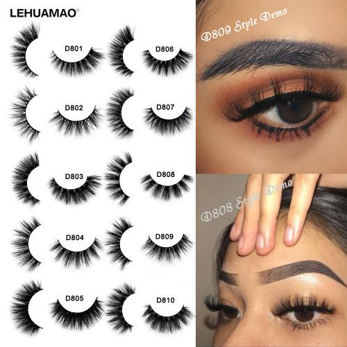 LEHUAMAO Mink Eyelashes 3D Mink Lashes Thick HandMade Full Strip Lashes Cruelty Free Mink Lashes 13 Style False Eyelashes Makeup