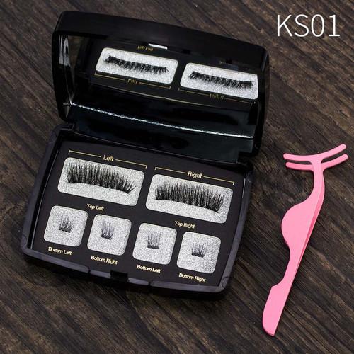 VICILEY Handmade Makeup Tool Eye Lashes Magnetic Lashes 6D False Eyelashes Natural Long Magnet Eyelashes Acrylic Box  SCT04-2