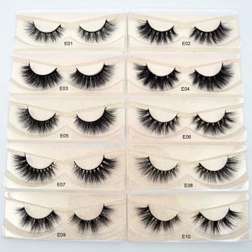 Visofree Eyelashes 3D Mink Lashes natural handmade  volume soft lashes long eyelash  extension real mink eyelash for makeup E01