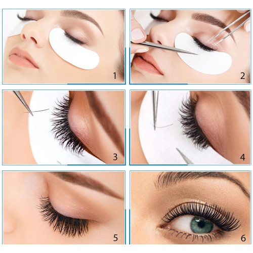 100Pairs Eyelash Extension Eye Pads Pillows Disposable Patches for Eyelashes Under Eyes Tips Lint Free Lash Sticker Wraps Makeup