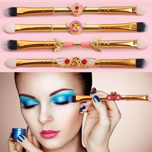5pcs/Set Magic Wand Professional Eyeshadow Applicator Sponge Brushes Set Double Ended Powder Brush Beauty Cosmetic Makeup Tools
