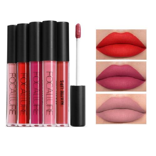 FOCALLURE Matte Lipstick Batom Waterproof Lip stick Smooth Long-lasting Cosmetics Kiss-proof Professional Makeup Lips