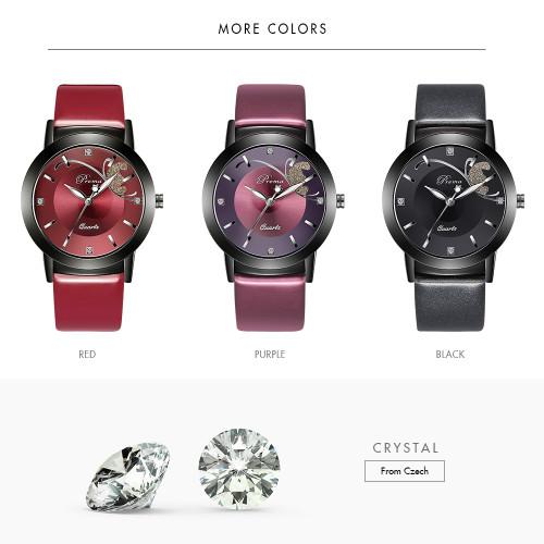 PREMA Watches Women Montre Femme Fashion Quartz Watch Relogio Feminino Clock Women Business Sport Leather Feman Watches