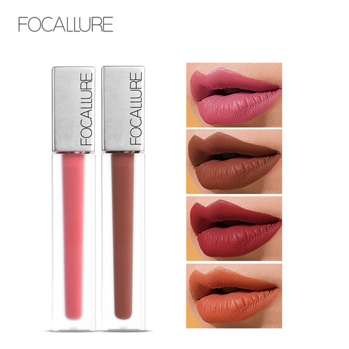 FOCALLURE New Long-lasting & Ultra-matte Liquid Lip Stain High Quality Waterproof Lipstick Quick-drying