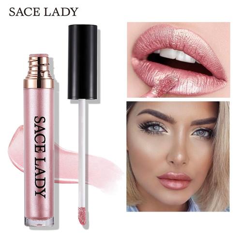 SACE LADY Metal Lipstick Waterproof Matte Makeup Liquid Lip Gloss Tint Long Lasting Lipgloss Glitter Paint Make Up Cosmetic