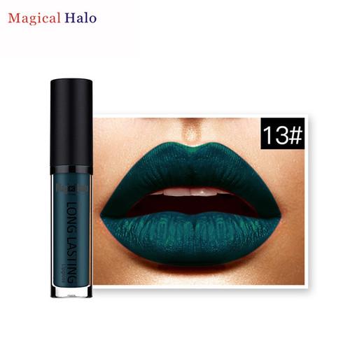 1pc Beauty lipstick New Brand Magical Halo Fashion Dark green Waterproof Matte Lipstick Pretty Long Lasting Lip Gloss Lipstick