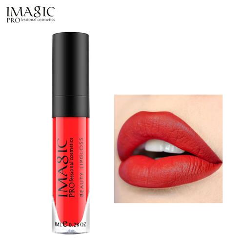 IMAGIC matte lipgloss Waterproof Long Lasting Gloss Beauty makeup lip gloss fashion lip 1pcs
