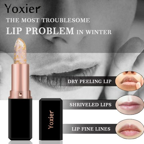 24K Gold Olive Oil Lip Balm Moisturizing Natural Colorless Refine Repair Wrinkles Makeup Lipstick Treatment New Brand 1Pcs