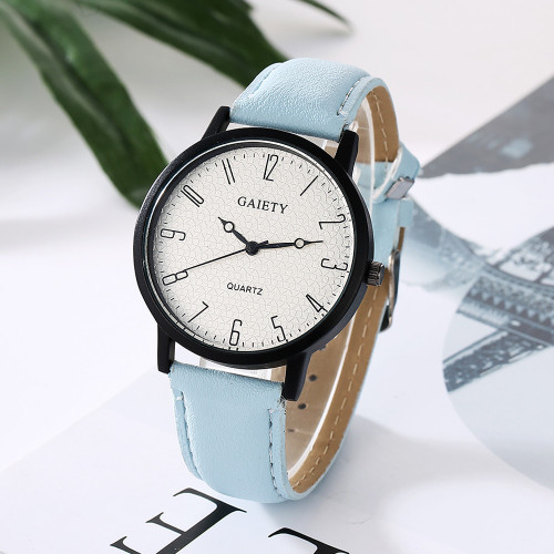 Vico 2017 New Famous Brand GAIETY Women Fashion Leather Band Analog Quartz Round Wrist Watch Watches relogio feminino clock
