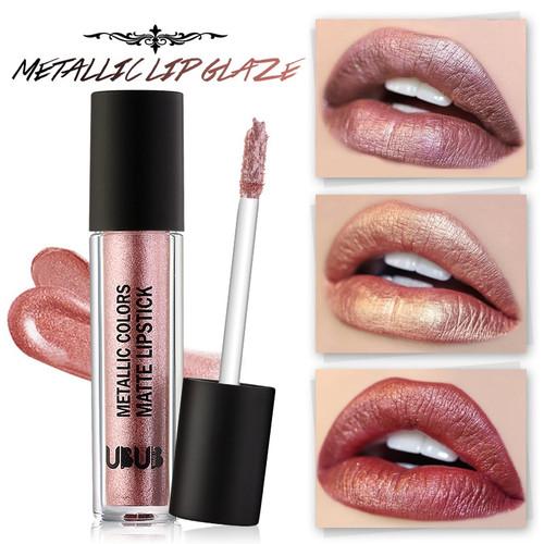 UBUB 12 Colors Lip Tint Metallic Liquid Lipstick Matte Lipgloss Beauty Brand Makeup Nude Pigment Glitter Sexy Lip Gloss Make Up