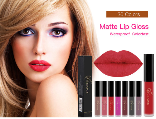 26 Colors Liquid Lipstick beauty Long lasting Matte Lip Gloss Waterproof Red Velvet Lips Tint Sexy lipgloss Nude Lip Makeup