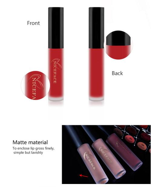 26 Colors Liquid Lipstick beauty Long lasting Matte Lip Gloss Waterproof Red Velvet Lips Tint Sexy lipgloss Nude Lip Makeup