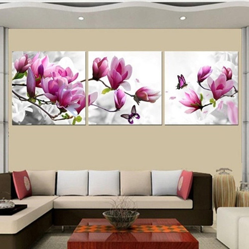 Framed painting wall art canvas framed Transparent flowers Home Decorative Art Picture Prints on Canvas framed wall art SOL-044F