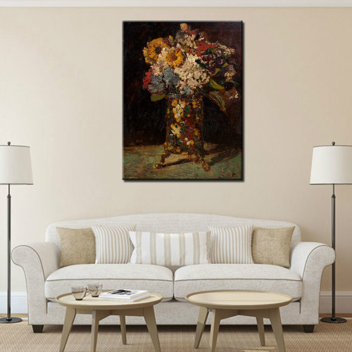 100%Handpainted Vincent Van Gogh Impressionist Flower Oil Painting On Canvas Wall Art Reproduction Of Master Piece